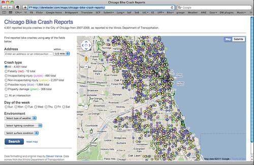 New bike crash map, click through to view
