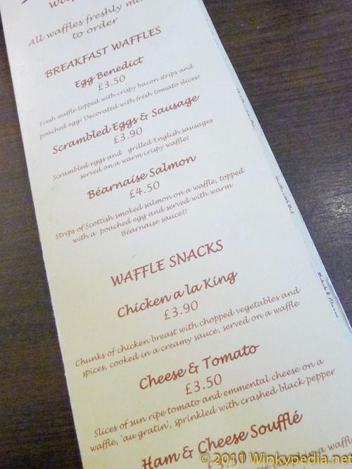 menu at Kula