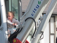 Child in digger