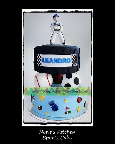 Norie's Kitchen - Sports and Car Racing Themed Cake