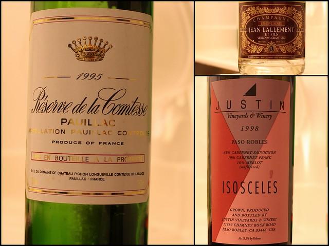 Reserve de la Comtesse 95 and Justin Isosceles 98