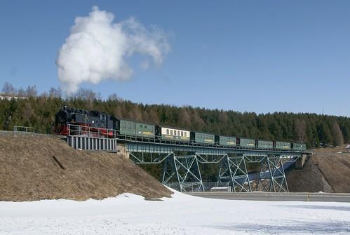99 785 auf dem Hüttenbachtalviadukt Oberwiesenthal