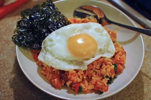 Kimchi and Spam Bokkeumbap
