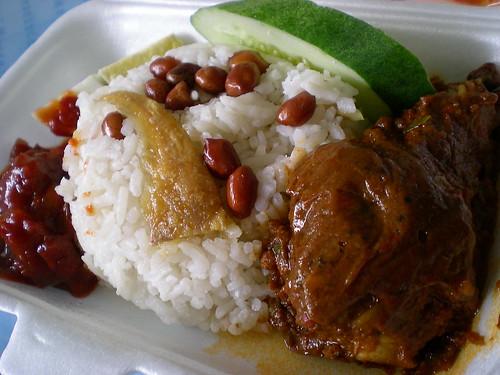 Nasi lemak rendang 1