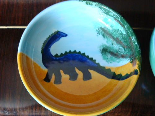 Dino Plate after glazing by squeejay