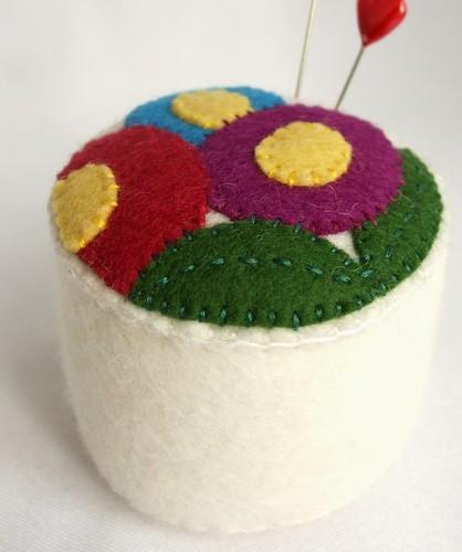 Bright White Bouquet Pin Cushion