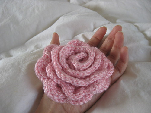 ginormous rose brooch