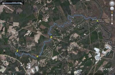 Ebenezer Creek GPS Track