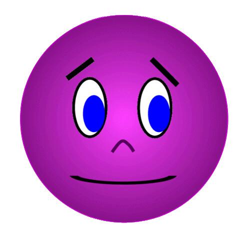 purple face anxious unsure