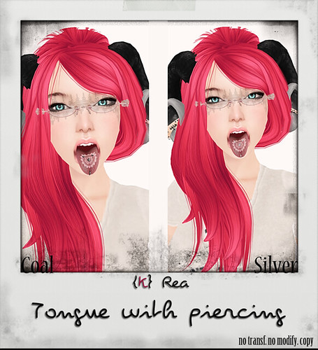 .:{K}Rea:. Tongue with Piercing  by ⊱Kere Millar⊰