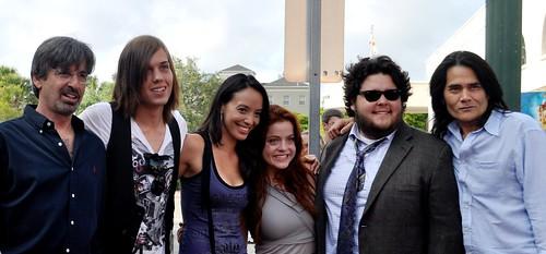 Robert Carradine (L) and Cast of Worker's Comp Television Series, Sarasota Film Festival, April 16, 2011