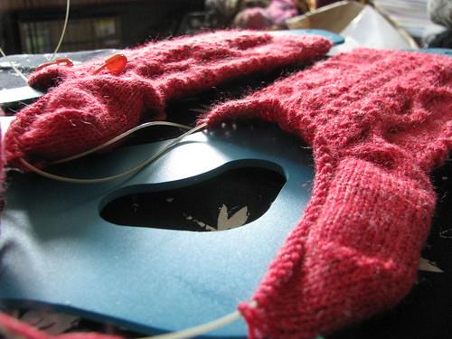 Violins Socks Test Knit 2/3 Finished