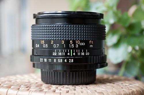 Marexar 28mm f/2.8 (enfoque a 1,5 m)