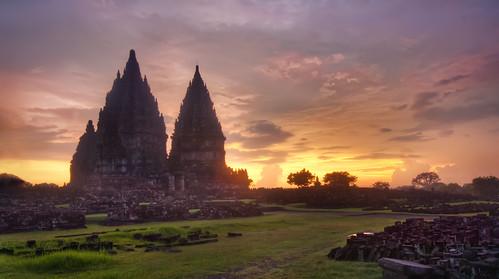 Prambanan Sunset by Stuck in Customs