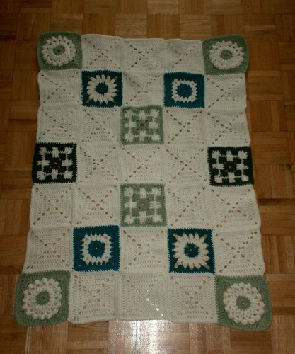 Sampler Baby Blanket - Sewing Complete