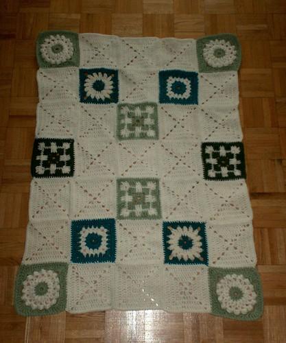 Sampler Baby Blanket - Sewing Complete