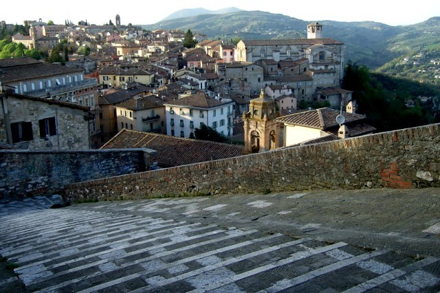 Walking the streets of Perugia