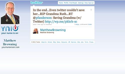 Saving Grandma (with Twitter)