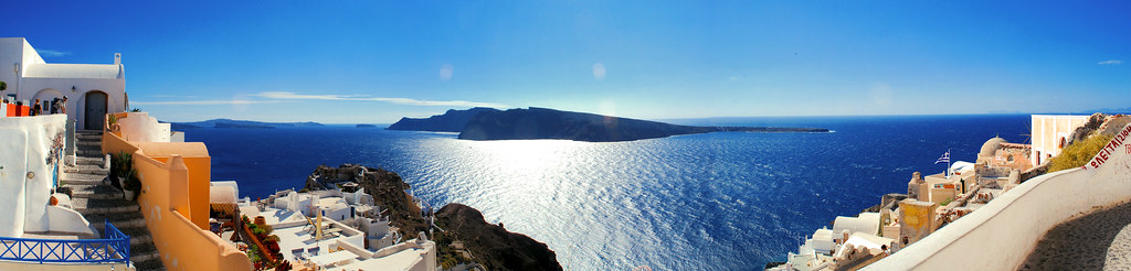 A Panoramic View from Oia in Santorini, Greece [EXPLORED!]