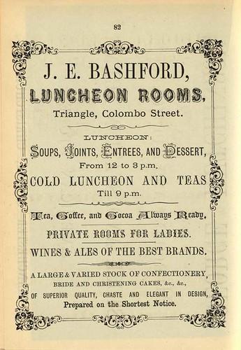 J.E. Bashford, Luncheon Rooms
