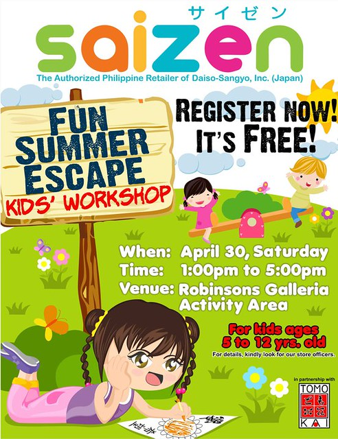 Saizen Summer Kids Workshop