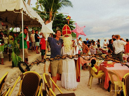 Santa Claus in Alona Beach, Bohol