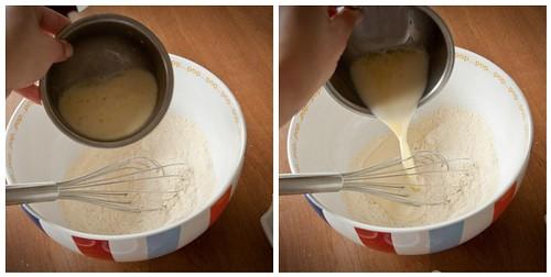 Add egg/milk mixture