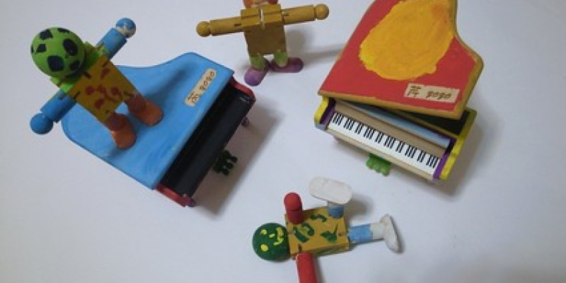 彩繪鋼琴音樂盒、木頭人(6.8ys)