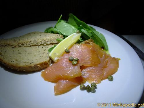 Smoked salmon at the Bonnie & Wild