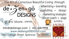 deZengoDESIGNS :: SACREDspace - Business Card