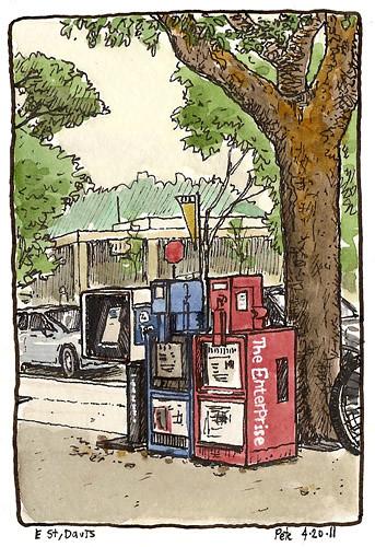 newspaper boxes E street