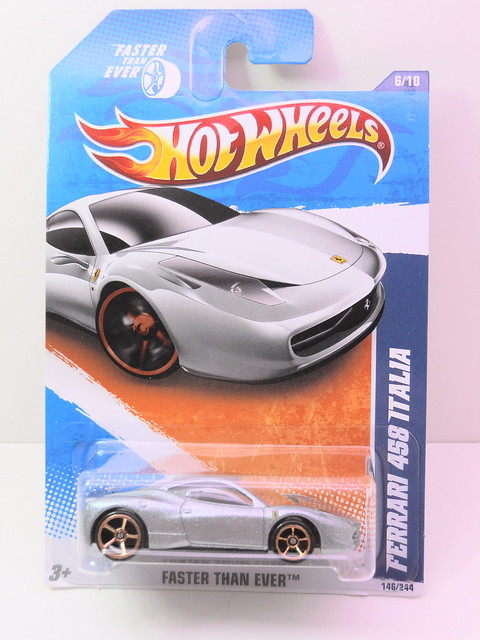 hot wheels ferrari 458 Italia silver (1)