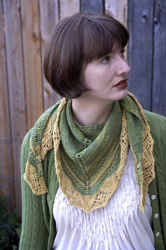 Arcadian Shawl modeled 1