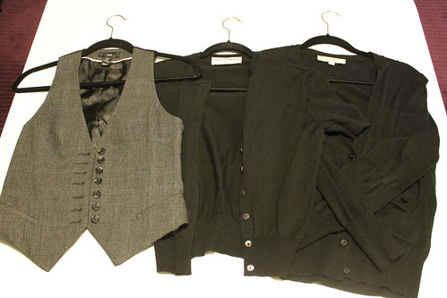 1 Vest, 2 Cardigans (Short and Long Sleeve)
