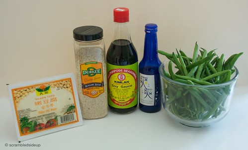 Green Beans with a Creamy Tofu Dressing Ingredients