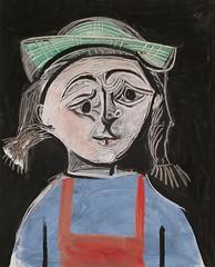 [ P ] Pablo Picasso - Fillette aux nattes et a...