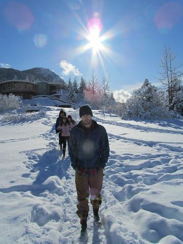 Ian Trekking to the Glacier