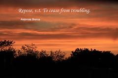 Repose, v.t. Ambrose Bierce Quote