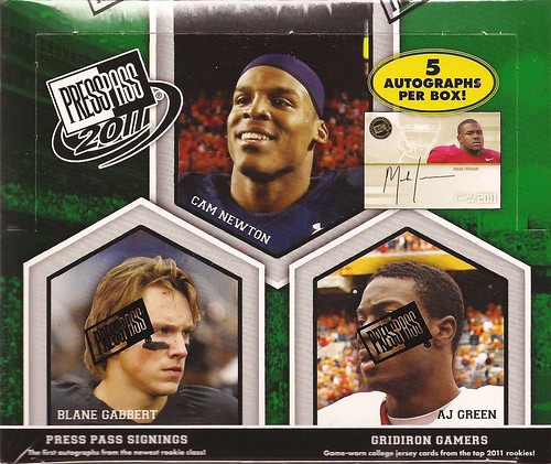 2011 Press Pass Football box
