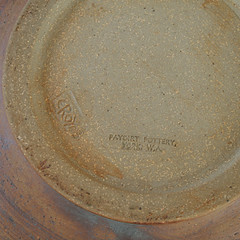 Paydirt Pottery. Genie bottle. Marks