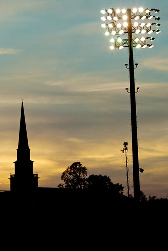 Sunset at Fluor Field by MatthewOsbornePhotography