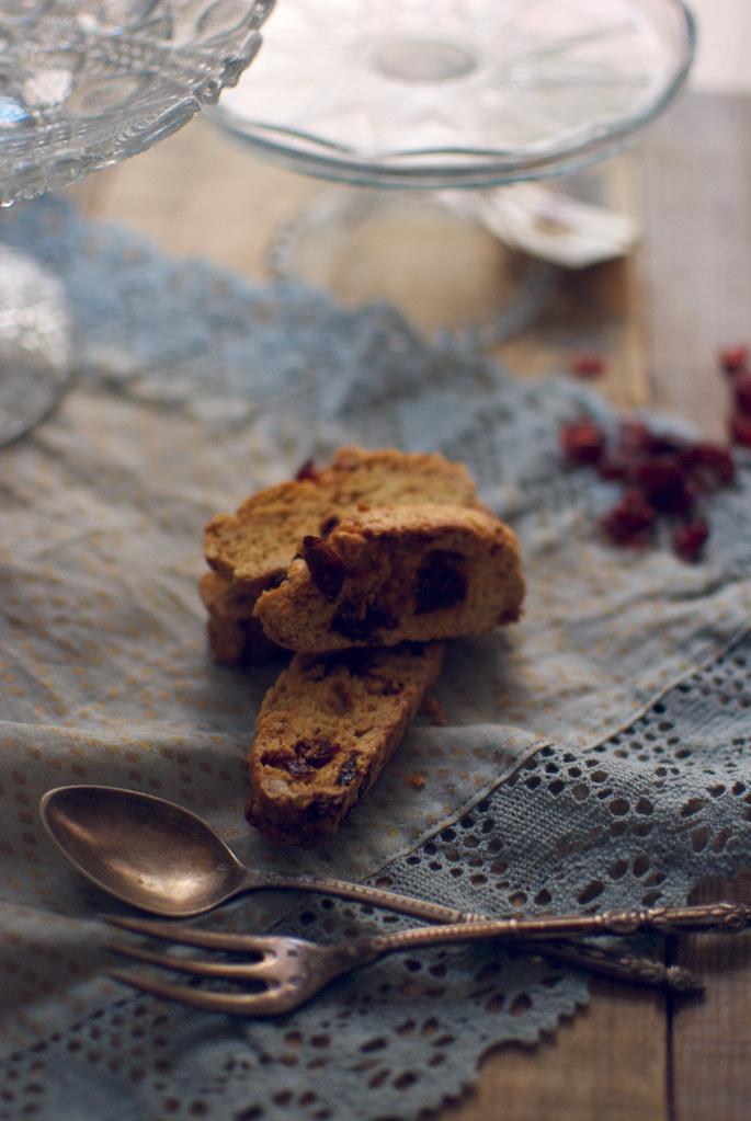 biscotis de arandanos y calvados