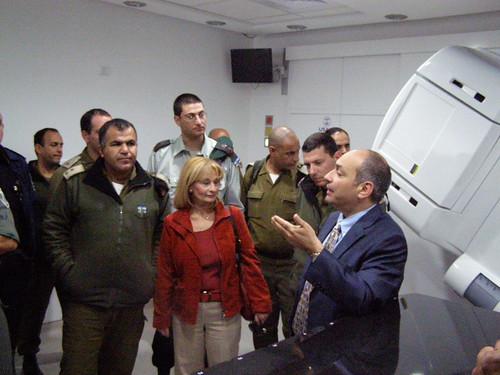 Israeli Officers Visit East Jerusalem Hospitals