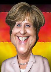 Angela Merkel - Caricature