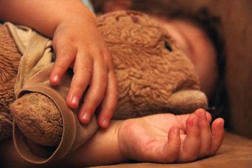 cuddling my bear