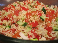 Tabouleh prior to mint & seasoning