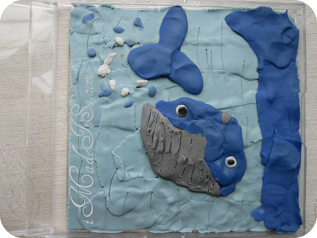 whale clay birds-eye-view