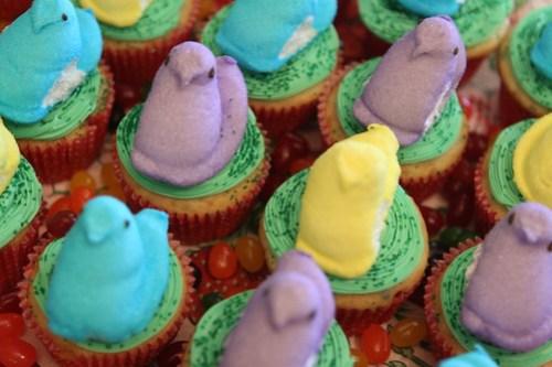 Easter PeepCakes top view