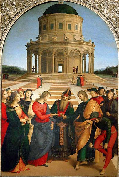 Marriage of the Virgin (Spozalizio) by Raphael