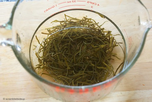 Soaking Shredded Kombu